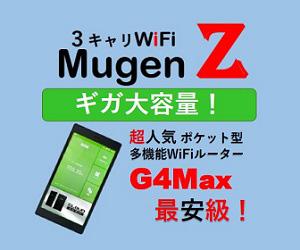 クラウドSIM型Wi-Fiレンタルサービスの無限Z