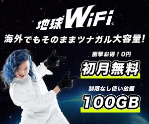 4G LTEで初月無料の地球WiFi